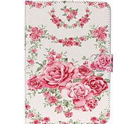 Roses Folio Leather Stand Cover Case With Stand for iPad Mini 3/2/1