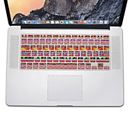 estilo bohemio de silicona diseño de la piel cubierta del teclado para el aire del macbook 13.3, MacBook Pro con retina 13 15 17 nos