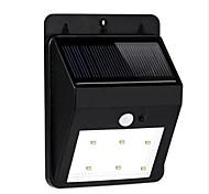 hry® 6LEDs montar montion IP55 sensor de luz de parede exterior jardim lâmpada porta portão