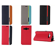 Luxury Wallet With Card Slot Holder Style Mixed Colors Leather Case For Samsung Galaxy E5/E7/Grand Prime/Core Prime