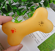 Dog Pet Toys Chew Toy Bone Yellow Rubber
