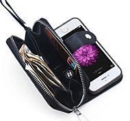 PU-Leder Reißverschluss Handgeldbörsengeldbeutel mit Einbauschlitz-Fallabdeckung für Apple iPhone 5 / 5s