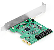 Shengwei® PEC-2024 PCI-E to SATA3.0 Port Board MosChip MCS9901 Use for WIN98/Me/XP/Server2003/Vista/7/8/10