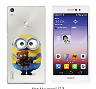 MAYCARI®Loving Little Toy Bear Soft Transparent TPU Back Case for Huawei P7/P8