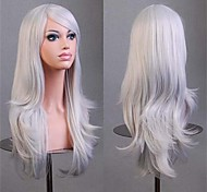 parrucche cosplay piene parrucche sintetiche 70 cm popolare parrucca grigia a buon mercato migliore qualità
