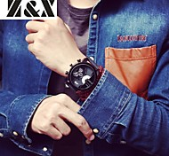 Men's Fashion Big Watch Personality Leather Quartz Analog Sport Watch(Assorted Colors) Cool Watch Unique Watch