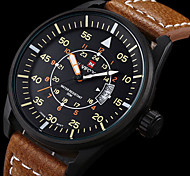 Men's Quartz Watch, Black Leather Watch Band, Boyfriend Gift for Men Sports Military Waterproof Watch Wrist Watch Cool Watch Unique Watch
