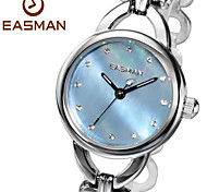 EASMAN Brands Ladies Watches Heart Shape Steel Bracelet Band Blue Mother of Pearl Wrist Watch Womens Watches Cool Watches Unique Watches