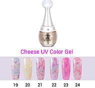 1pcs queso de uñas de gel polaco ULTRAVIOLETA del gel de 24 colores 12 ml de gel de uñas de larga duración polaco 19-24