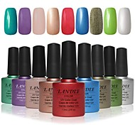Choose 9 Piece LANDLE Soak Off UV Nail Gel Polish 79 Color Gel LED Manicure Gel