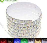 5m 75w 300x5050smd LED RGB / blanc / vert / bleu / jaune / rouge / blanc froid DC12V / blanc chaud étanche IP68 LED Light Strip