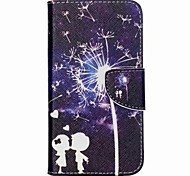 Child Dandelion Painted PU Phone Case for Wiko Lenny 2
