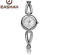 EASMAN Women Crystal Bracelet Mother of Pearl Dial Quartz Fashion Watch Sapphire Glass Female Water Resistant Wristwatch Cool Watches Unique Watches