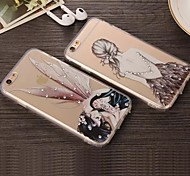 iPhone 7 Plus Luxury Ultra-Thin Beautiful Pattern Acrylic Back Case with Diamond for iPhone 6s 6 Plus