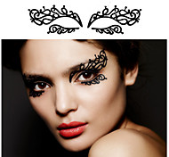 2Pcs The New Fashionable Makeup Art Creative Paper-Cut eye Patch Eyeliner Post 12 Lace Hollow Out Eye Shadow To Cheek