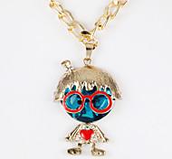 Fashion Child Shape Golden Alloy Choker Necklace(1 Pc)