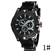 V6 Explosion Models Large Dial Men's Fashion Sports Silicone Band Quartz Watch Wrist Watch Cool Watch Unique Watch
