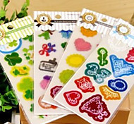 PVC Scrapbooking Decorate Stickers(7PCS/Set Random Color)