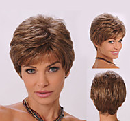 Extensions Ladys' Brown Short Synthetic Hair Wave Wigs