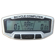 Wireless Waterproof Odometer Speedometer Bicycle Computer Silver
