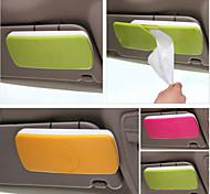supporto di carta per auto sole scatola del tessuto della visiera con clip di accessori auto titolare