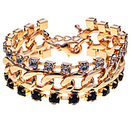 European Style  Crystals Claw Chain Statement Bracelet