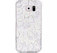 Lace Mosaic  Pattern Printed Transparent PC Material Phone Case for Samsung Galaxy S3mini /S4mini/S5mini/S5/S6/S6edge