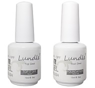 Lundle Soak Off UV Nail Gel Polish Base And Top Coat Gel Foundation LED Manicure Gel