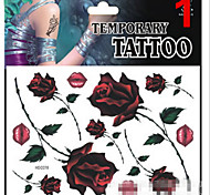 Temporary Tattoos Stickers Non Toxic Glitter Waterproof Multicolored Glitter 1 Package 17*16CM (Color Randomly)