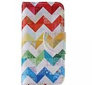 Farbstreifen-Muster Handy Leder für iphone 5 / 5s