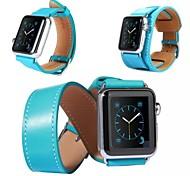 3 in 1 Luxus-Leder-Bandbügel Armband Ersatz-Armband mit Adapterverschluss für Apfel Uhr 42mm / 38mm