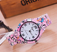 Woman And Men Print Wrist  Watch
