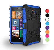 Caso 2 in 1 a due colori staccabile tpu + pc ibrido con kickstand per Nokia Lumia 630/635 (colori assortiti)