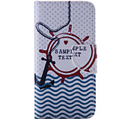 The New  Anchors PU Leather Material Flip Card Cell Phone Case for iPhone 6 /6S