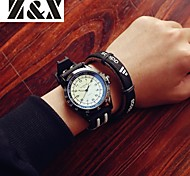Men's Fashion Personality Silicone Quartz Analog Bracelet Sport Watch(Assorted Colors)