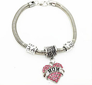 Diamond Letters MoM Alloy Bracelet Chain & Link Bracelets Daily / Casual 1pc