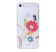 Latest  Flower Pattern Swarovski Diamond High Quality Laser Relief Touch Phone Case for iPhone 5 / 5S