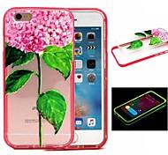 2-in-1-grünen Blumenmuster tpu rückseitige Abdeckung mit pc Autostoßfest Hülle für iPhone 6 / 6S