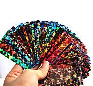 1Pcs The New Manicure Cellophane Paper 12 Stars Manicure Laser Glass