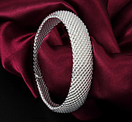 "Classic Noble 925 Sterling Silver ""Woven""Bangles Party Daily Bangles For Woman&Lady"