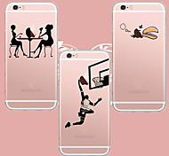 Ideas maycari®good caso suave transparente TPU para 5s iPhone5 / iPhone (colores surtidos)