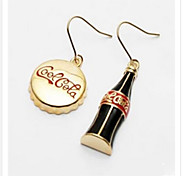 Fashion New Style Alloy Coca Cola Bottle Cap And Bottle Shape Earring