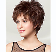 Women lady Short Brown Color Synthetic Hair Wigs