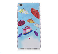 Color Umbrella Pattern TPU Soft Case for Huawei P8