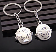 Hair Grow Old Couple Keychain Creative and Practical Small Gifts Wedding