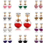 2015 New Bohemia Hollow Beads Rhinestone Lovely Earring(Assoeted Color)