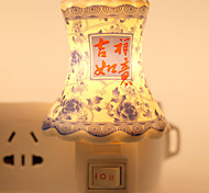 Classic Design Porcelain-shaped Ceramic Lamp Night Light Bedside Lamp with Good Moral for Festival Gift