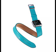 Luxury Leather watch Band strap Bracelet Replacement Wrist Band With Adapter Clasp For Apple Watch 42mm/38mm