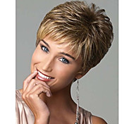 New Stylish Blonde Mix Color Short Wavy Synthetic Hair Wigs