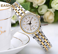 EASAMAN Luxury Brand Elegant Ladies Wrist Watch Silver Gold Solid Steel Women Dress Watches Female